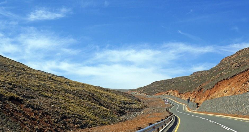 Route vers le Sani Pass