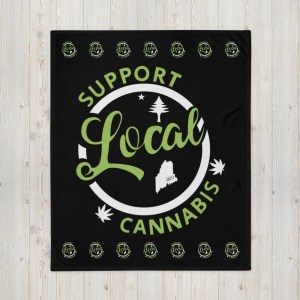 Support Local Maine Cannabis - Throw Blanket