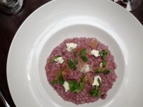 Beet Risotto with Goat Cheese - I didn't make this one, but it was on of the best meals of the year.