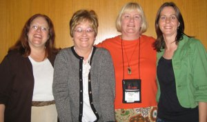 Julia Spencer Fleming, Elizabeth Duncan, Luci Hanson Zahray and Meredith Cole at Malice