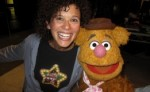 Fozzie Bear and Elise Allen