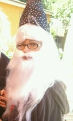 Elise as Dumbledore