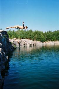 divingin