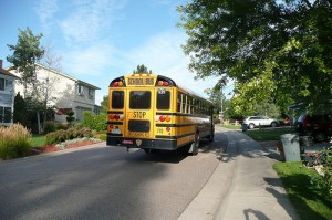 And away Kay goes on the bus to her final year in Elementary School.