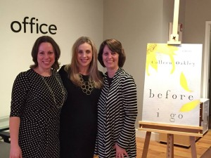 My sister, my mom and I at the book launch party for BEFORE I GO.