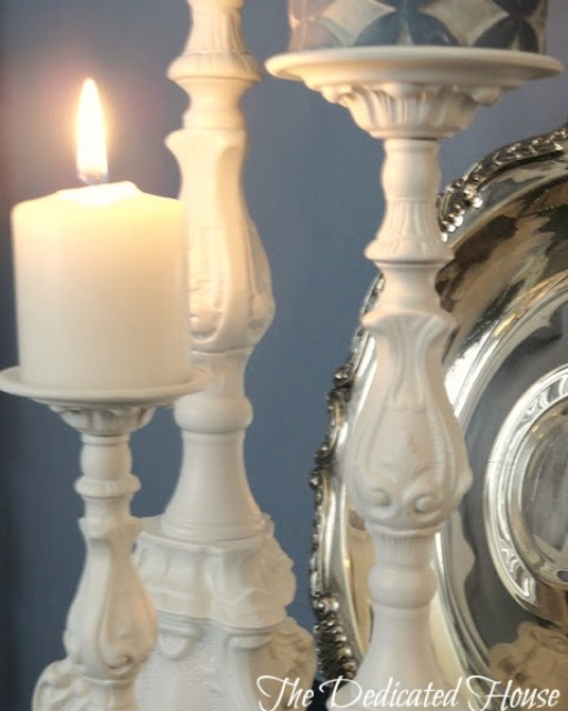 Candle Holder Makeover - The Dedicated House