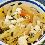 Pasta with Spinach, Pine Nuts, and Feta