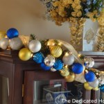 China Hutch and Entertainment Center Christmas Decor 2012
