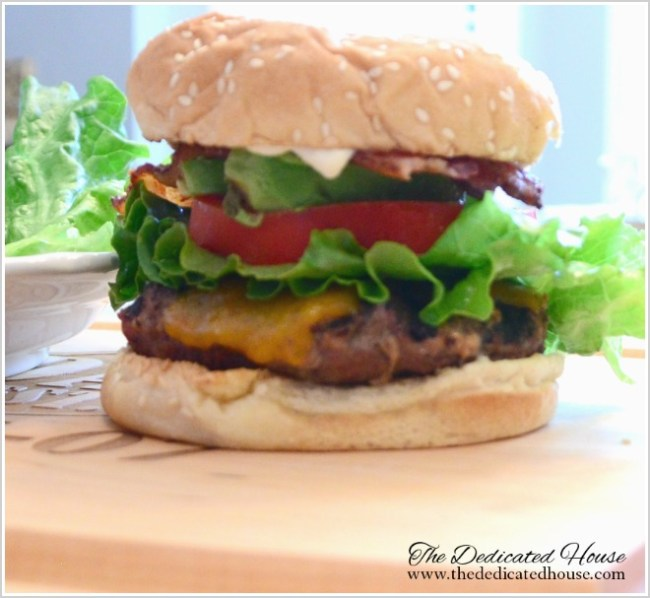 Kitchen Grilling Series Bacon Avocado Hamburger