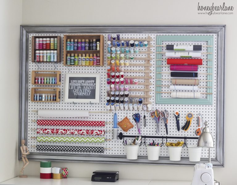 Grid Pegboard Style Using Best Space Management