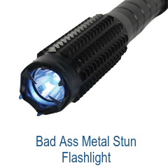 Bad Ass Stun Metal Flashlight
