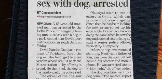 Dateline Delhi – Man Has Unnatural Sex with Dog, Clip 1