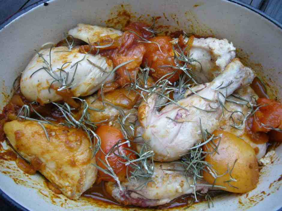 Spicy Rosemary Tomato Chicken Prep