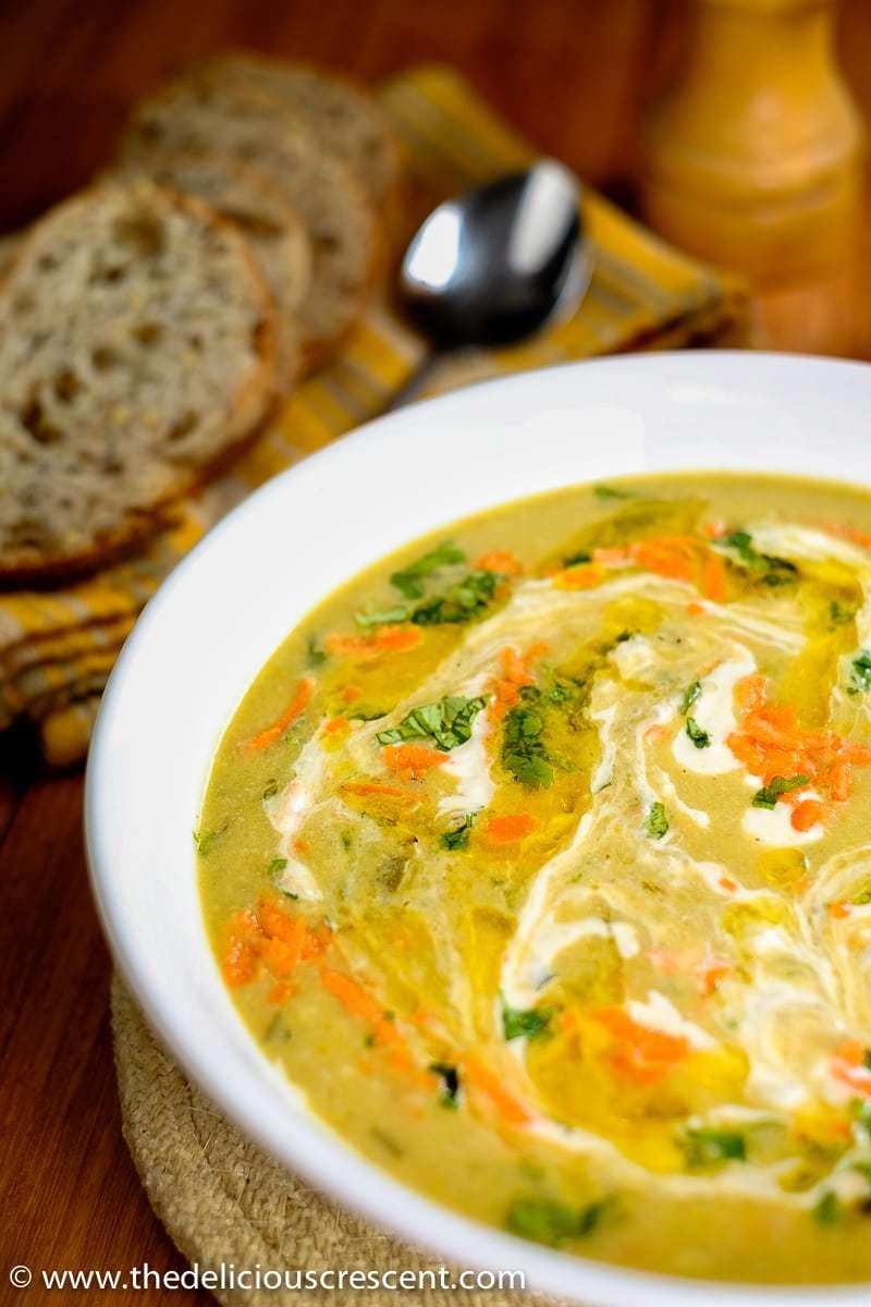 Persian Creamy Barley Soup