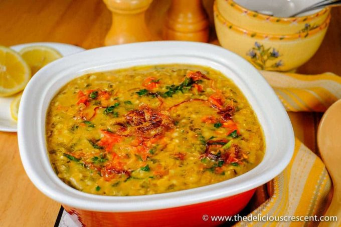 Methi Chicken Khichda (Savory Fenugreek Chicken Porridge)