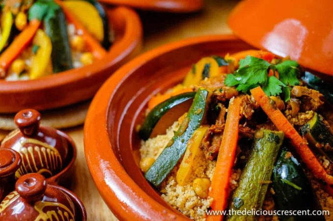 Cauliflower Couscous with Moroccan Lamb and Vegetable Stew