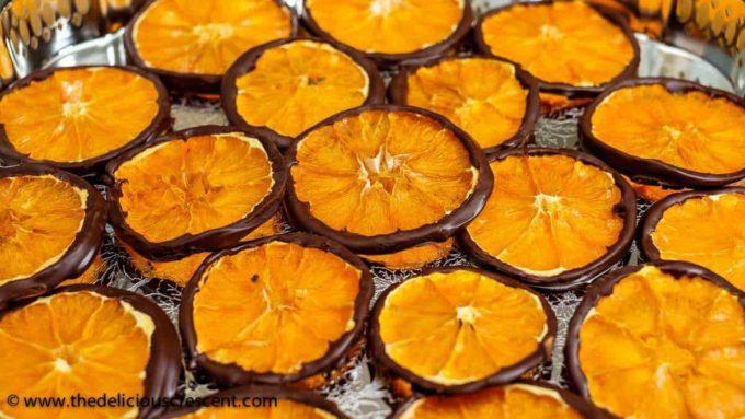 Dark Chocolate Orange Slice Wheels