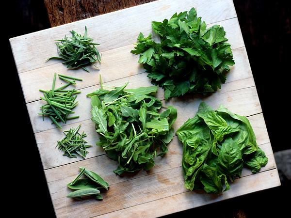 Italian Salsa Verde - herb ingredients