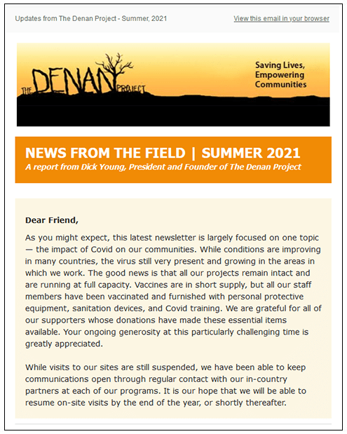 The Denan Project Newsletter