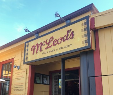 McLeod's Brewery has re-opened its pizza barn, giving us the perfect excuse for a day trip
