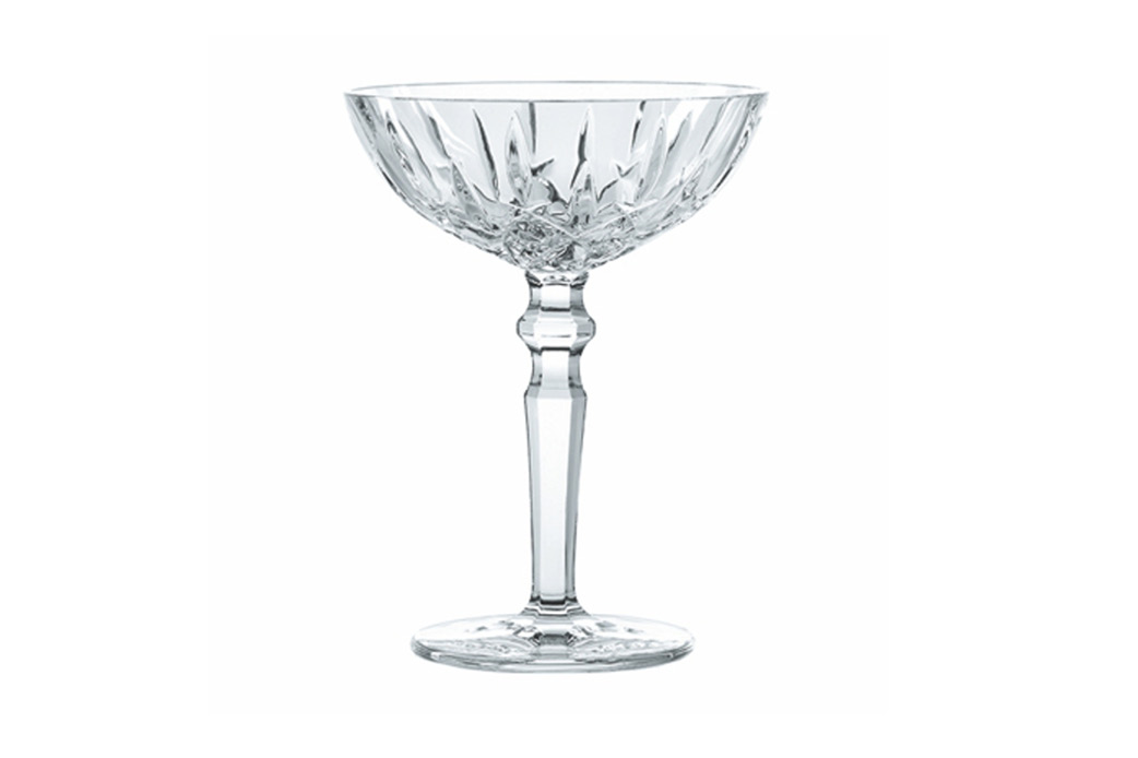 Crystal champagne saucer pair