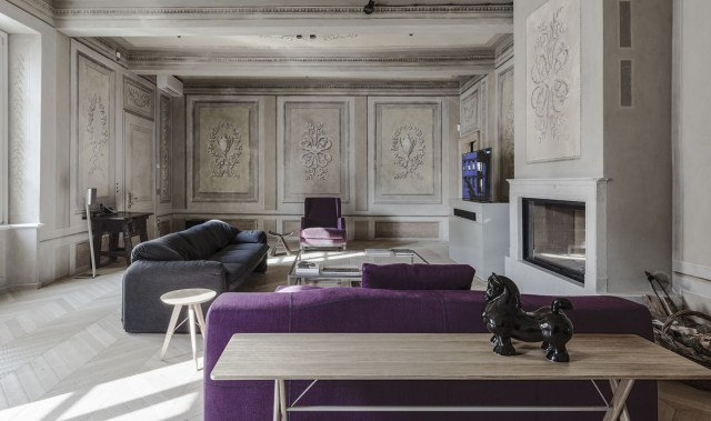 Explore the raw elegance of this ultra sophisticated Italian apartment