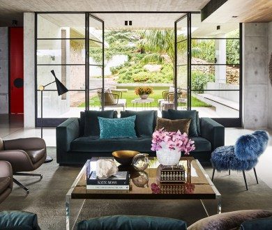 Explore a waterfront mansion with grand designs on intimate living
