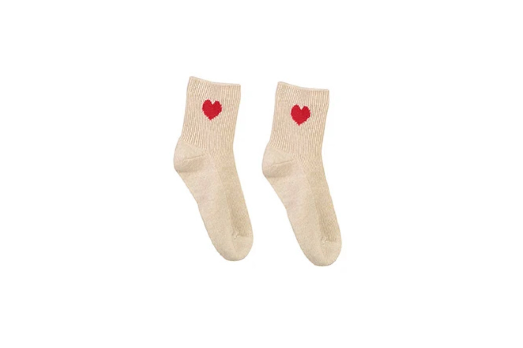 Cashmere Heart Socks