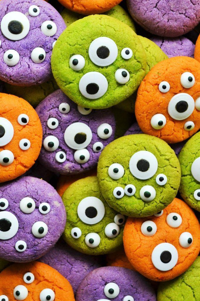 Halloween Monster Eye Cookies