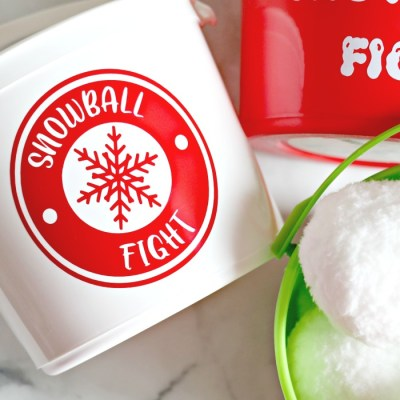 DIY Indoor Snowball Fight Buckets for Kids – FREE SVG & PRINTABLE