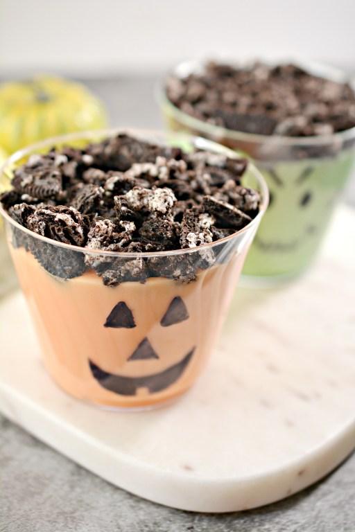 Halloween Monster Dirt Pudding Cups