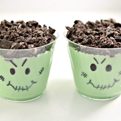 Halloween Cookie Pudding Cups