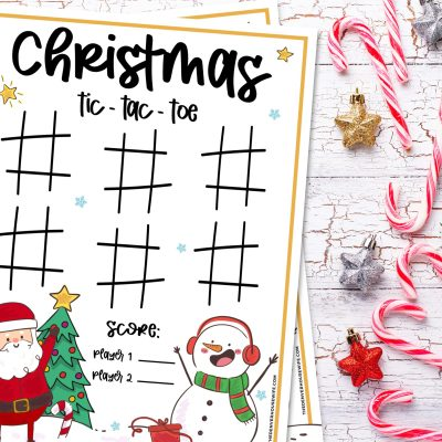 Christmas Tic Tac Toe Printable