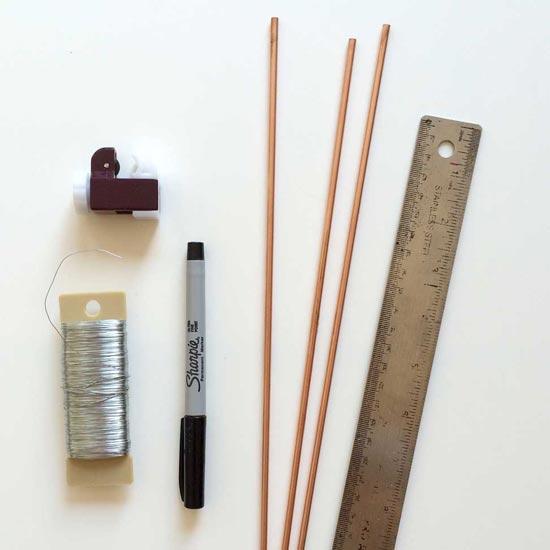 Materials for DIY Copper Moravian Star Pendant Light Fixture