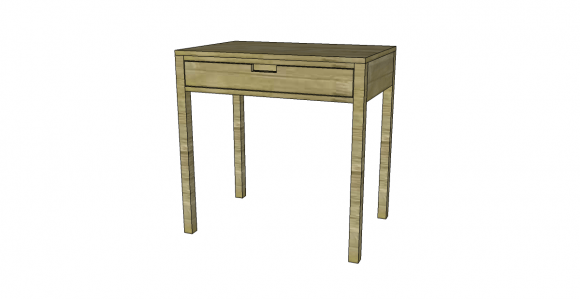 You Can Build This! Easy DIY Furniture Plans from The Design Confidential with Complete Instructions on How to Build a Pocket Collection One Drawer Desk via @thedesconf