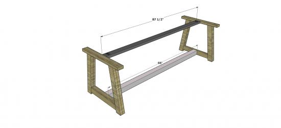 You Can Build This! Easy DIY Plans from The Design Confidential Free DIY Furniture Plans // How to Build An Outdoor Provence Beam Dining Table via @thedesconf