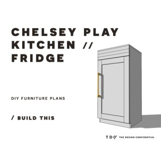 You Can Build This! Easy DIY Furniture Plans from The Design Confidential with Complete Instructions on How to Build a Chelsey Play Refrigerator via @thedesconf