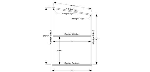Step 1 for The Design Confidential Free DIY Furniture Plans // How to Build a Polar Bear Bookshelf