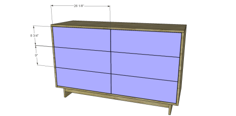 Install the Drawer Fronts for Free DIY Furniture Plans to Build an Emmerson 6 Drawer Dresser
