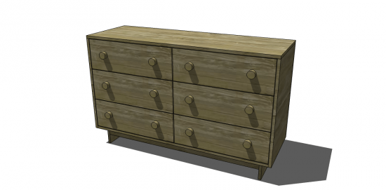 Free DIY Furniture Plans to Build an Emmerson 6 Drawer Dresser