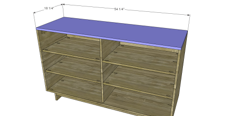 Fasten the Top in Place for Free DIY Furniture Plans to Build an Emmerson 6 Drawer Dresser
