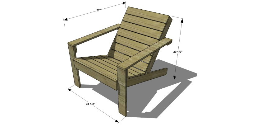 adirondack chair plans. Unique Plans Free DIY Furniture Plans  How To Build An Outdoor Modern Adirondack Chair With F