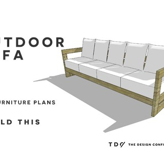 You Can Build This! Easy DIY Furniture Plans from The Design Confidential with Complete Instructions on How to Build an Aegean Outdoor Sofa via @thedesconf