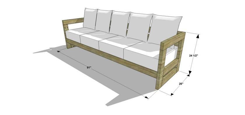 diy patio sofa plans. the design confidential diy furniture plans how to build an aegean outdoor sofa diy patio u