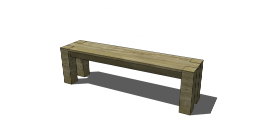 Vintage The lumber list allows for building two benches the perfect panion pieces to the Vintage Parsons Table plans we posted last