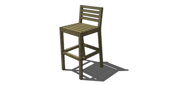You Can Build This! Easy DIY Furniture Plans from The Design Confidential with Complete Instructions on How to Build a Chesapeake Bar Stool via @thedesconf