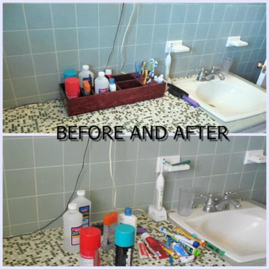 Reader Showcase: Bathroom Counter Organizer - The Design Confidential