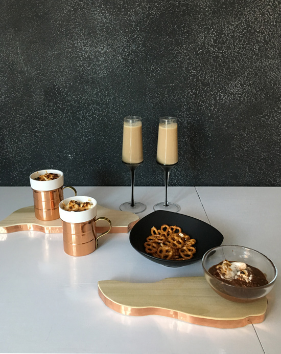 The Design Confidential DIY // Copper Rimmed Live Edge Nesting Platters + Buttered Beer Recipe