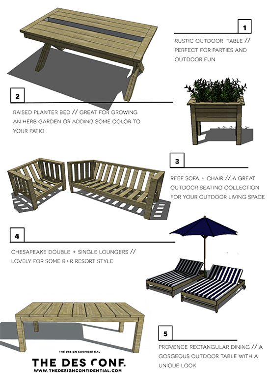Top 10 Most Popular Diy Outdoor Furniture Plans The Design