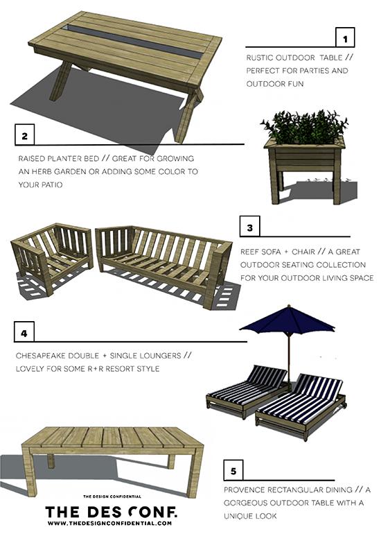 Top 10 Most Popular DIY Outdoor Furniture Plans The Design – Diy Patio Table Plans